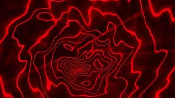 Loop glow red energy hypnosis visual illusion background