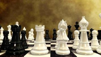 jogando xadrez de fundo