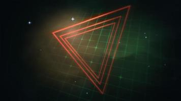 röda trianglar och grönt rutnät video