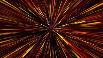loop de distorção estilizado de luzes estelares amarelo-laranja-vermelho video