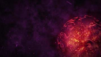 Planeta de plasma cinematográfico con nube de humo. video