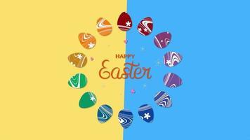 feliz texto de páscoa e ovos de páscoa