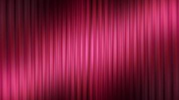 animação de cortina vermelha de fundo 3d abstrato video