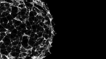 fundo de rede esférica abstrato video
