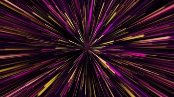 luz de velocidade de dobra da galáxia neon amarelo, rosa e violeta video
