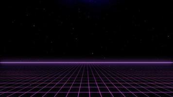 Grelha futurista de fundo de ficção científica de estilo retro