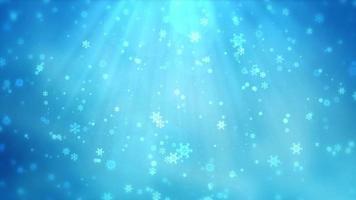 fond animé de flocon de neige.