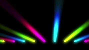 multi gekleurde podiumlichten