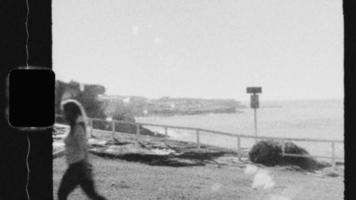 Super 8 Black and White - Strolling along the coast video