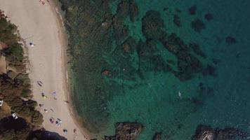 Top-Down View of People at The Beach in 4 K video