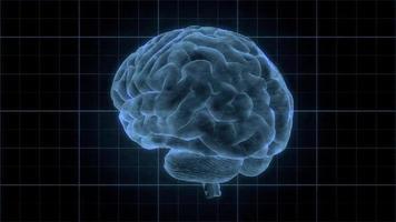 elemento hud de un cerebro humano holográfico
