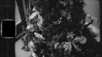 Super 8 Black and White - Christmas tree video