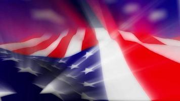 le drapeau américain avec des effets de lumière video