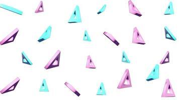 motif abstrait de triangles rotatifs