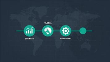 Infographic Business Icons Presentation