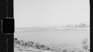 Super 8 Black and White - Sydney Beach and Coastline video