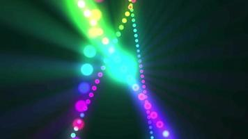 fondo de luces de neón retro video