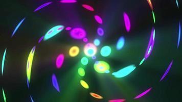 espiral de luzes coloridas