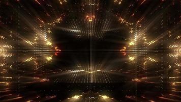 túnel futurista dourado video