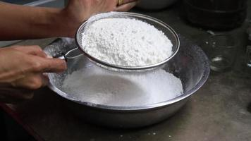 Sifting  White Flour video