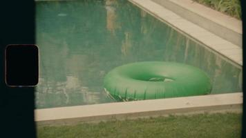 Super 8 - A lonely donut in a pool video