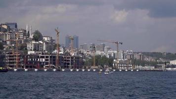 Tower Cranes at Istanbul Karakoy Montage, Turkey. video