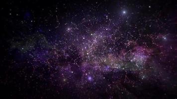 conceito de apresentação de fundo animado espaço nebulosa.