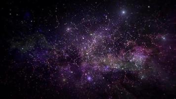 nebulosa espacio animado concepto de presentación de fondo.