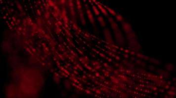 animação de partículas de luz com linhas pontilhadas vermelhas video