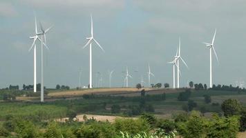 Wind Turbines Farm video