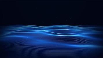 Fondo animado de onda azul oscuro.