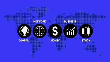 conceito de apresentação de ícones de infográficos de círculo de negócios