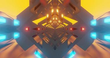 animação digital em loop de túnel estilo hi-tech video