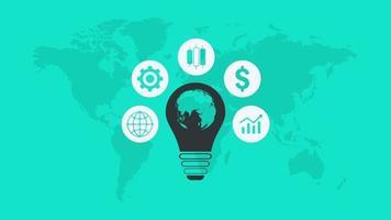 criando ideias para iniciar uma apresentação animada de negócios video