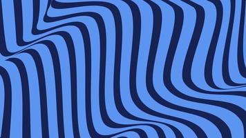 Fondo azul abstracto con rotación de líneas hipnóticas
