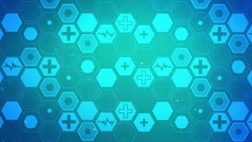 Hexagon Health Plus Pattern Background Concept video