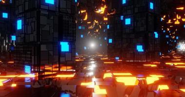 corredor de ficção científica de metal video