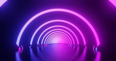 movimiento de bucle de anillo de neón rosa