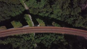 Top-Down View of An Old Stone Viaduct in 4 K video