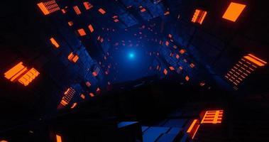 túnel escuro de ficção científica video