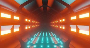 nahtlose Loop-Animation eines Science-Fiction-Tunnels