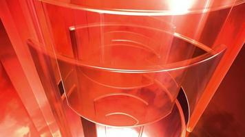 Abstract red glasses video