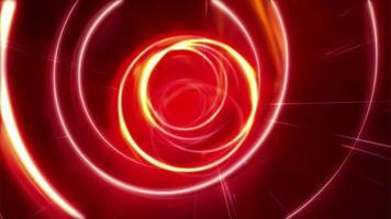 túnel de fogo vermelho