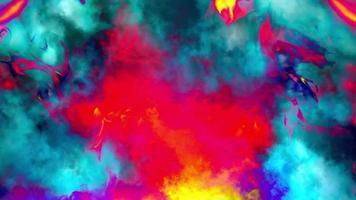 fundo colorido de chamas artísticas