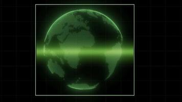 Planet Earth Scan - Sci-Fi Heads Up Display