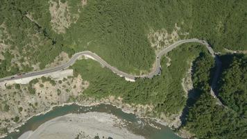 Trebbia Fluss Antenne, Brugnello, Italien