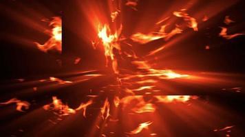 loope fuego y humo video