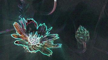 Glowing Neon Flower