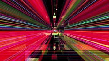 laberinto abstracto de luz refractada video
