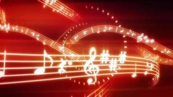 línea de fondo de notas musicales